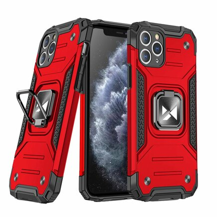 Wozinsky Ring Armor pancéřové hybridní pouzdro + magnetický úchyt iPhone 11 Pro Max červené