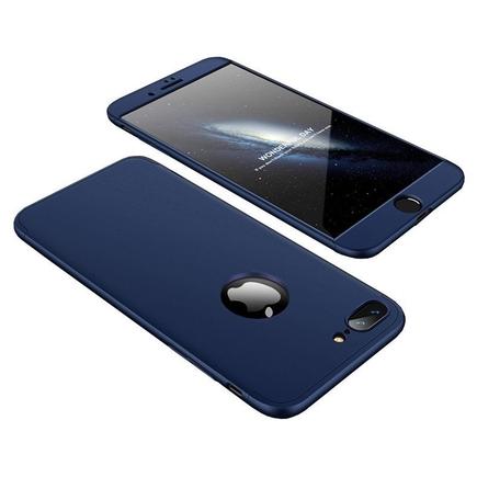 360 Protection Case pouzdro na přední i zadní část telefonu iPhone 8 Plus tmavě modré