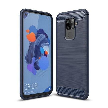 Carbon Case elastické pouzdro Huawei Mate 30 Lite modré