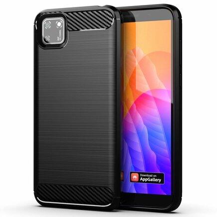 Carbon Case elastické pouzdro Huawei Y5p černé