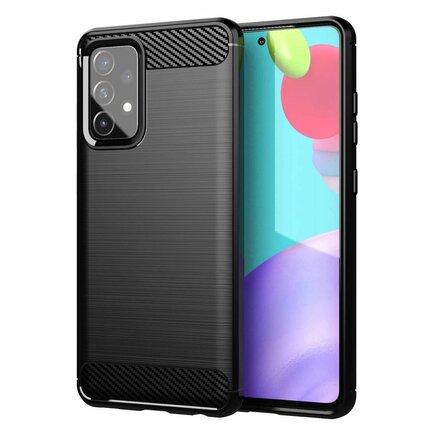 Carbon Case elastické pouzdro Samsung Galaxy A72 4G černé