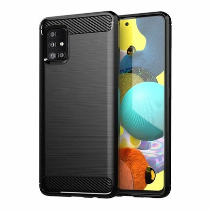 Carbon Case elastické pouzdro Samsung Galaxy M31s černé