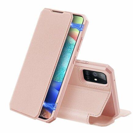 DUX DUCIS Skin X pouzdro s klapkou Samsung Galaxy A71 5G růžové