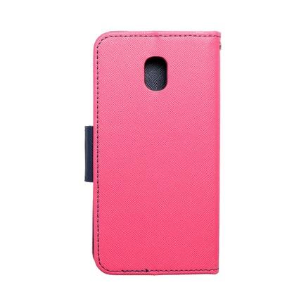 Pouzdro Fancy Book Samsung Galaxy J3 2017 růžové/tmavě modré