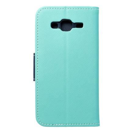 Pouzdro Fancy Book Samsung Galaxy J3/J3 2016 mátově zelené/tmavě modré