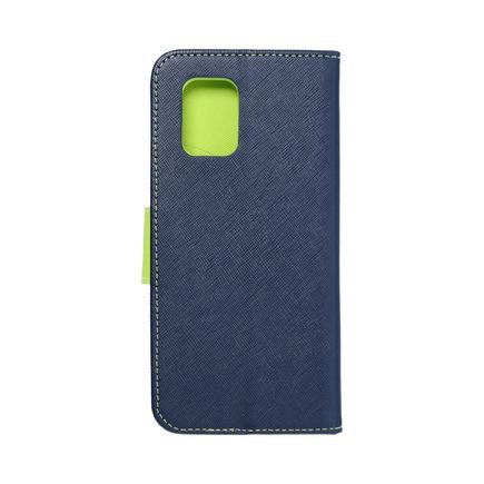 Pouzdro Fancy Book Xiaomi Mi 10T Lite tmavě modré/limetkové