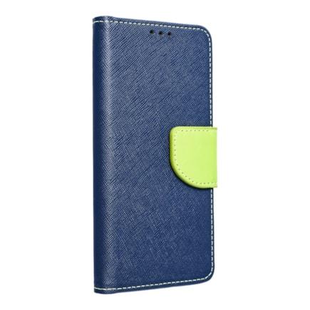 Pouzdro Fancy Book iPhone 13 tmavě modré/limetkové