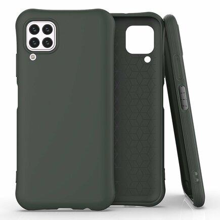 Soft Color Case elastické gelové pouzdro Huawei P40 Lite / Nova 7i / Nova 6 SE tmavě zelené