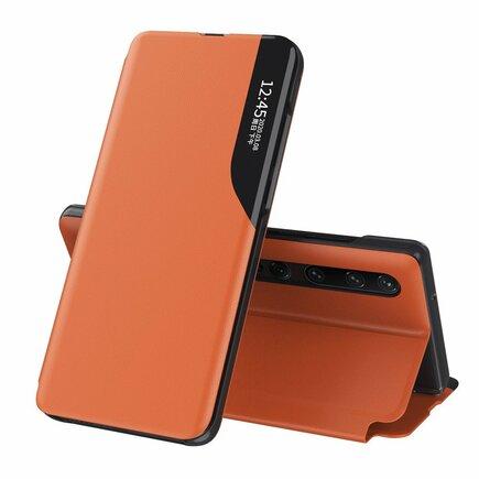 Eco Leather View Case elegantní pouzdro s klapkou a funkcí podstavce Xiaomi Mi 10 Pro / Xiaomi Mi 10 oranžové