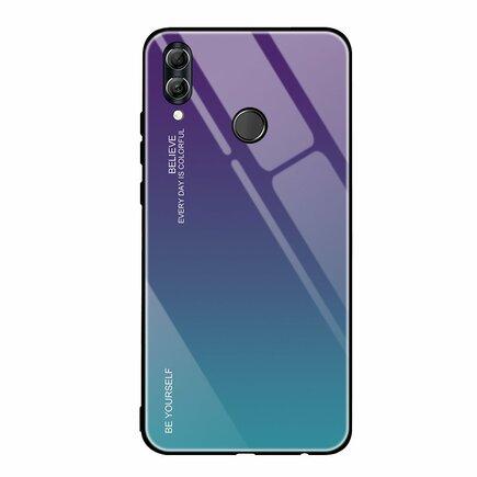 Gradient Glass pouzdro s vrstvou z tvrzeného skla Huawei P20 Lite zeleno-fialové