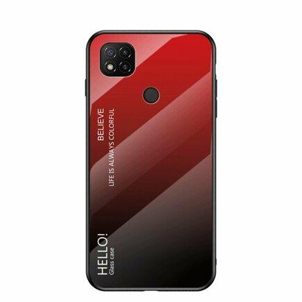 Gradient Glass pouzdro z tvrzeného skla Xiaomi Redmi 9C černo/červené