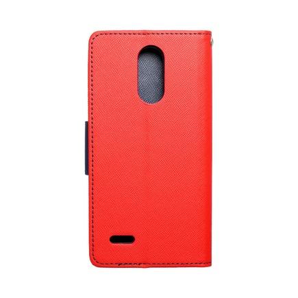 Pouzdro Fancy Book LG K9 (K8 2018) červené/tmavě modré