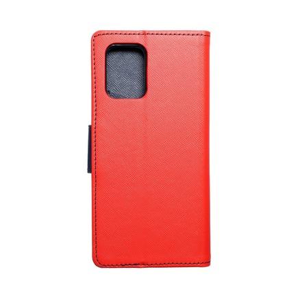 Pouzdro Fancy Book Samsung S10 Lite červené/tmavě modré