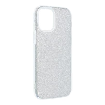 Pouzdro Forcell Shining iPhone 13 Pro stříbrné