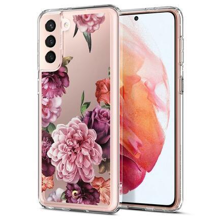 Spigen Pouzdro Cyrill Cecile Galaxy S21 růžové květiny