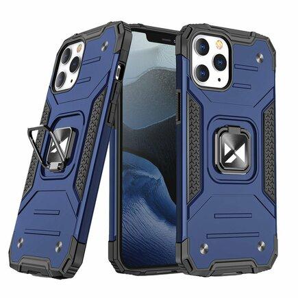 Wozinsky Ring Armor pancéřové hybridní pouzdro + magnetický úchyt iPhone 12 Pro Max modré