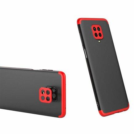 360 Protection Case pouzdro na přední i zadní část telefonu Xiaomi Redmi Note 9 Pro / Redmi Note 9S černo/červené