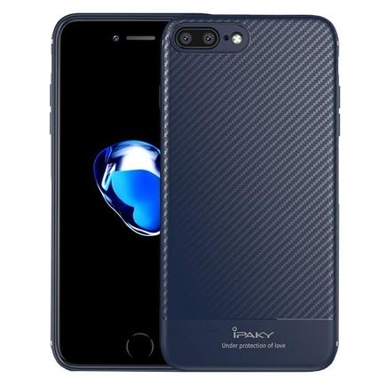 Carbon Fiber elastické pouzdro iPhone 8 Plus / 7 Plus modré