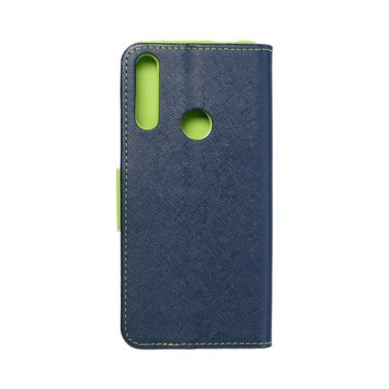 Pouzdro Fancy Book Huawei P Smart Z / Y9 Prime 2019 tmavě modré/limetkové