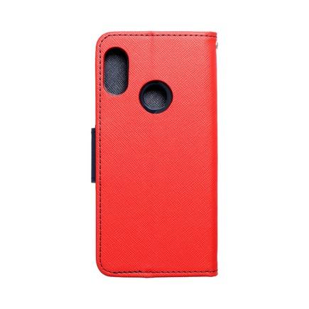 Pouzdro Fancy Book Xiaomi Redmi 6 Pro červené/tmavě modré