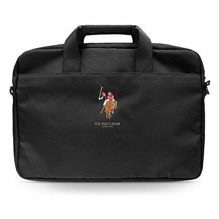 """USCB15PUGFLBK U.S. Polo Computer Bag 15"""" Black"""