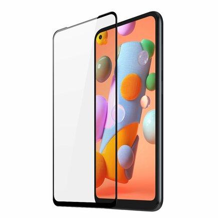 Dux Ducis 9D Tempered Glass odolné tvrzené sklo 9H na celý displej s rámem Samsung Galaxy A11 / M11 černé (case friendly)