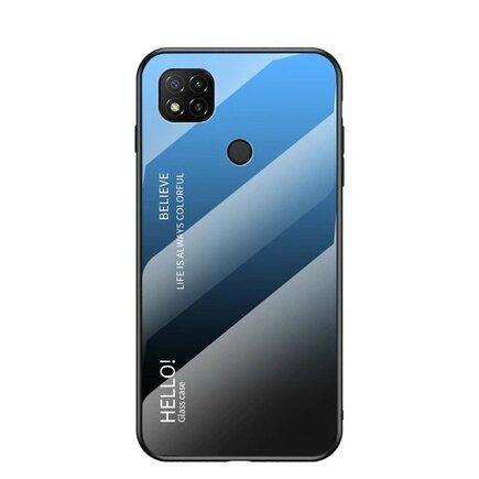 Gradient Glass pouzdro z tvrzeného skla Xiaomi Redmi 9C černo/modré