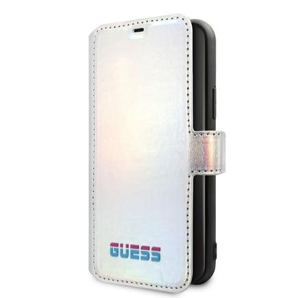 Iridescent Book Pouzdro pro iPhone 11 Pro stříbrné (EU Blister)