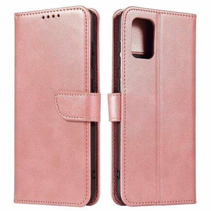 Magnet Case elegantní pouzdro s klapkou a funkcí podstavce Samsung Galaxy A71 5G růžové