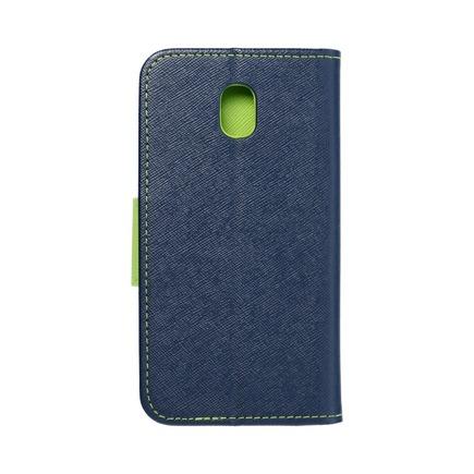 Pouzdro Fancy Book Samsung Galaxy J3 2017 tmavě modré/limetkové