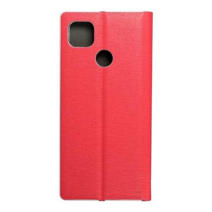 Pouzdro Forcell Luna Book Silver Xiaomi Redmi 9C / 9C NFC červené