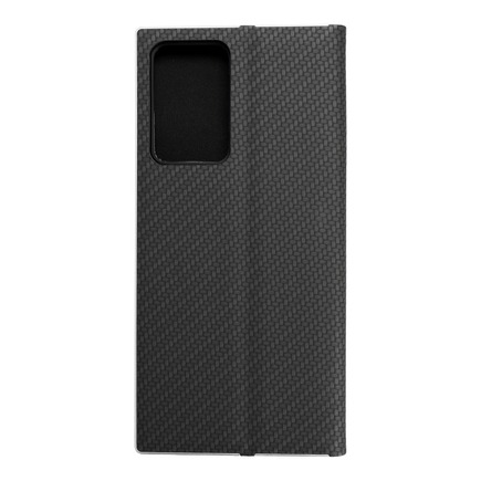 Pouzdro Luna Carbon Samsung Galaxy Note 20 Plus černé