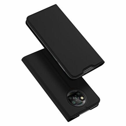 Skin Pro pouzdro s klapkou Xiaomi Poco X3 NFC černé