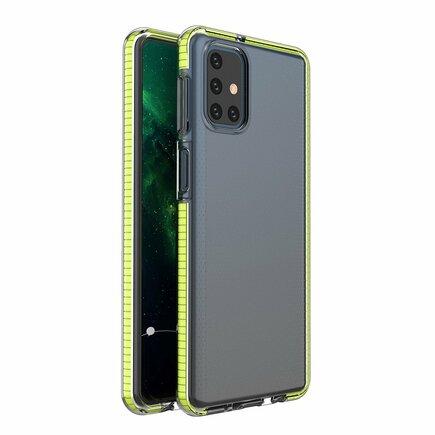 Spring Case gelové pouzdro s barevným rámem Samsung Galaxy M51 žluté