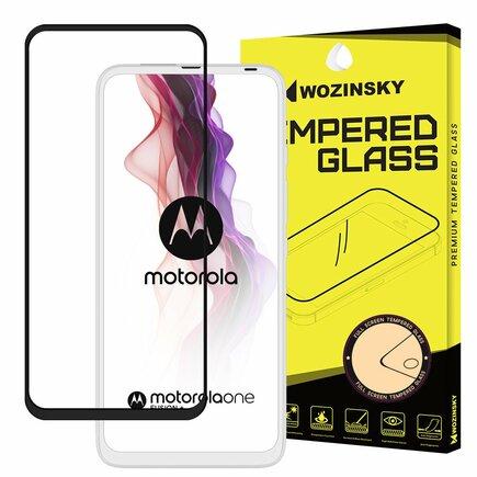 Super odolné tvrzené sklo Full Glue na celý displej s rámem Case Friendly Motorola One Fusion+ (Fusion Plus) černé