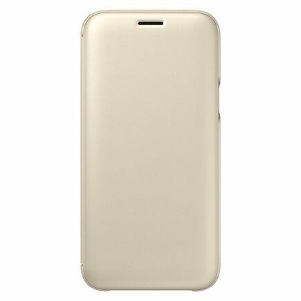 Wallet Cover pouzdro bookcase s kapsičkou na kartu Samsung Galaxy J5 2017 zlaté (EF-WJ530CFEGWW)