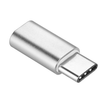 Adapter ładowarki Micro USB - USB Typ C [PA-30] srebrny