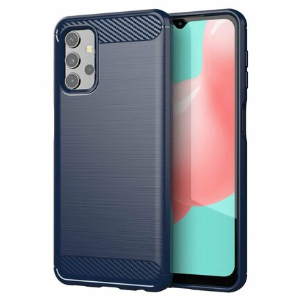 Carbon Case elastické pouzdro Samsung Galaxy A32 4G modré
