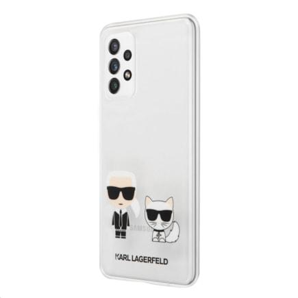 KLHCA72CKTR Karl Lagerfeld PC/TPU Karl & Choupette Kryt pro Samsung Galaxy A72 Transparent