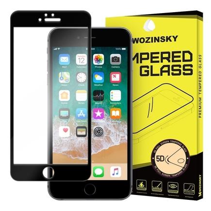 PRO+ super odolné tvrzené sklo 5D přes celý displej s rámem iPhone 6S Plus / 6 Plus černé