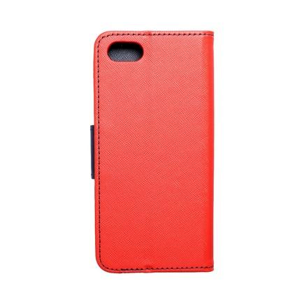 Pouzdro Fancy Book Huawei Y5 2018 červené/tmavě modré