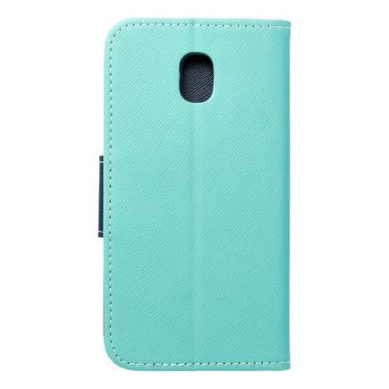 Pouzdro Fancy Book Samsung Galaxy J3 2017 mátově zelené/tmavě modré