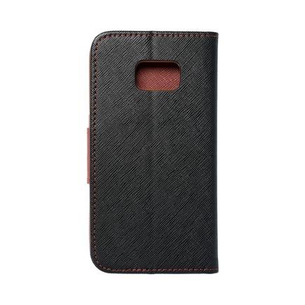 Pouzdro Fancy Book Samsung Galaxy S7 (G930) černé/hnědé