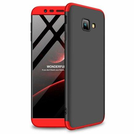 360 Protection pouzdro na přední i zadní část telefonu Samsung Galaxy J4 Plus 2018 J415 černo-červené