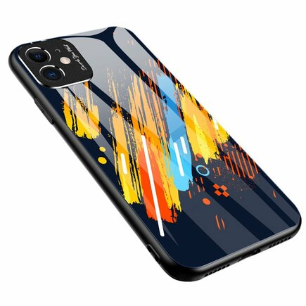 Color Glass Case pouzdro z tvrzeného skla s clonou na kameru Xiaomi Redmi Note 9 Pro / Redmi Note 9S vzorek 5