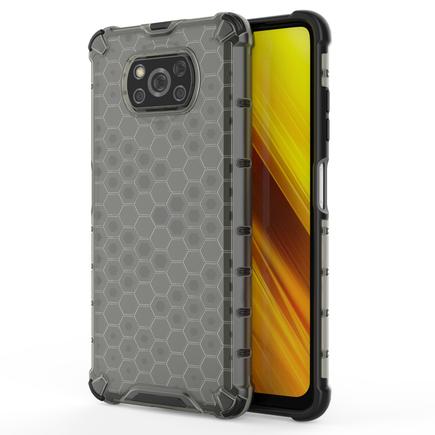 Honeycomb pancéřové pouzdro s gelovým rámem Xiaomi Poco X3 NFC černé