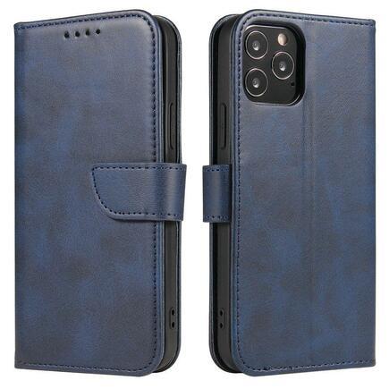 Magnet Case elegantní pouzdro s klapkou a funkcí podstavce Huawei P40 Lite 5G / Huawei Nova 7 SE modré