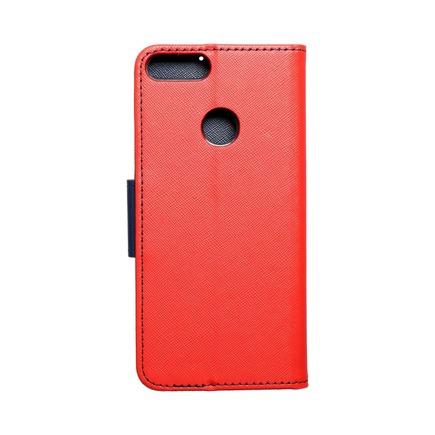 Pouzdro Fancy Book Huawei P Smart červené/tmavě modré