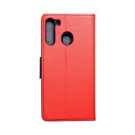 Pouzdro Fancy Book Samsung A21 červené/tmavě modré