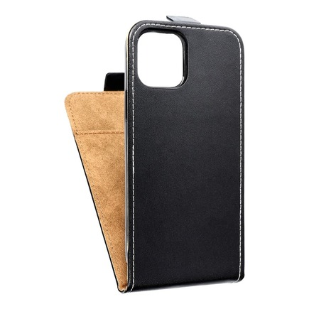 Pouzdro Slim Flexi Fresh svislé iPhone 12 / 12 Pro černé